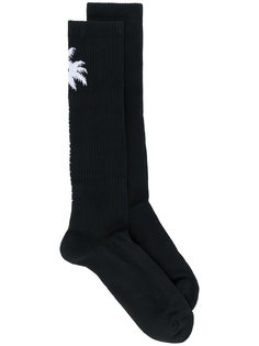 удлиненные носки с пальмами Marcelo Burlon County Of Milan