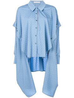 драпированная рубашка с вышивкой в горох Palmer / Harding