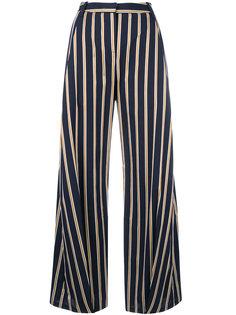 широкие брюки в полоску Palmer / Harding