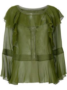 блузка с рюшами Alberta Ferretti