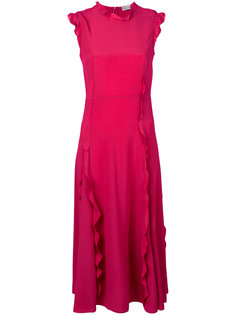 платье с рюшами Red Valentino
