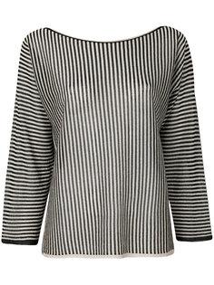 полосатая блузка  с отделкой металлик  Twin-Set