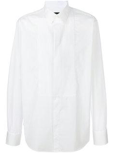 рубашка с плиссированным нагрудником Giorgio Armani