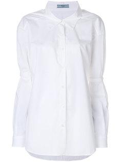 футболка с отделкой на локтях  Prada