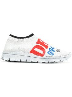 кроссовки с принтом слогана Maison Margiela