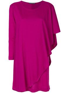 трикотажное платье с драпировкой Alberta Ferretti