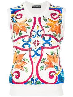 топ с принтом Sicilian  Dolce & Gabbana