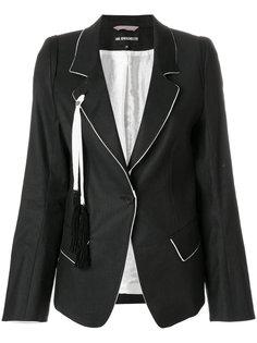 пиджак с контрастной окантовкой Ann Demeulemeester Blanche