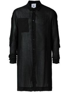 прозрачная рубашка свободного кроя с нагрудным карманом Lost & Found Rooms