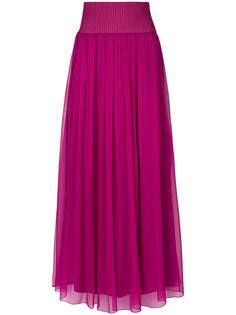 плиссированная юбка-макси Alberta Ferretti