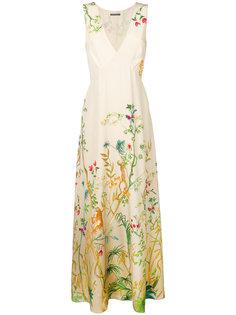 платье-макси с цветочным принтом Alberta Ferretti