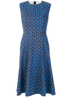 расклешенное платье с мелким узором Marni