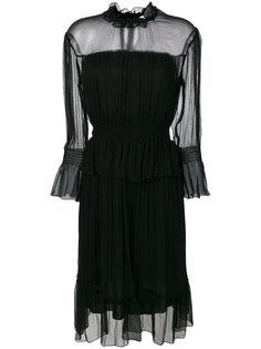 шифоновое платье с длинными рукавами See By Chloé
