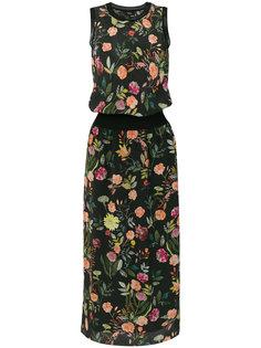платье миди с цветочным принтом Theory