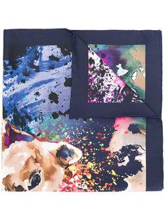 шарф с акварельным принтом Salvatore Ferragamo