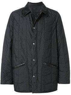 непродуваемая куртка с кожаной отделкой Salvatore Ferragamo