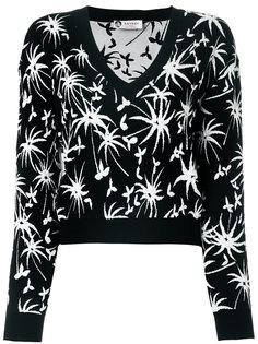 укороченный свитер с V-образным вырезом Lanvin