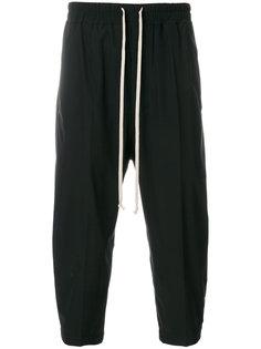 укороченные брюки  с эластичным поясом Rick Owens