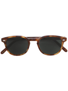 tortoiseshell-effect sunglasses Lesca