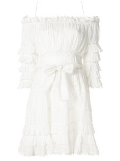 многоуровневое платье с оборками Zimmermann