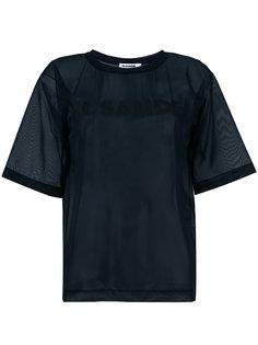 прозрачная футболка с принтом логотипа Jil Sander