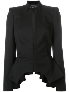 пиджак с баской и вырезной деталью Alexander McQueen