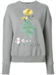 толстовка с цветочной вышивкой Alexander McQueen