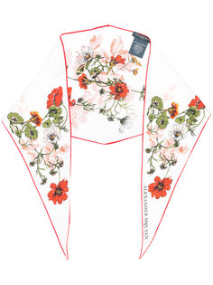 шарф с цветочным принтом Alexander McQueen