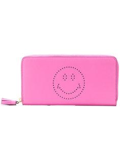 континентальный кошелек с принтом смайла Anya Hindmarch