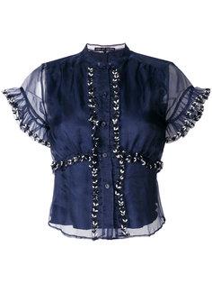 рубашка из органзы с вышивкой Jupe By Jackie