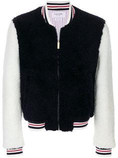 куртка-бомбер с полосками Thom Browne