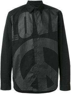 рубашка с принтом логотипа Love Moschino
