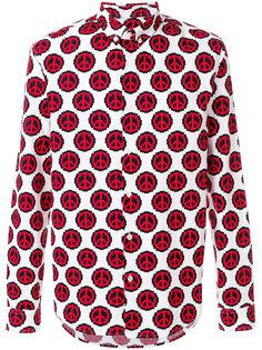 рубашка с пацифистским принтом Love Moschino