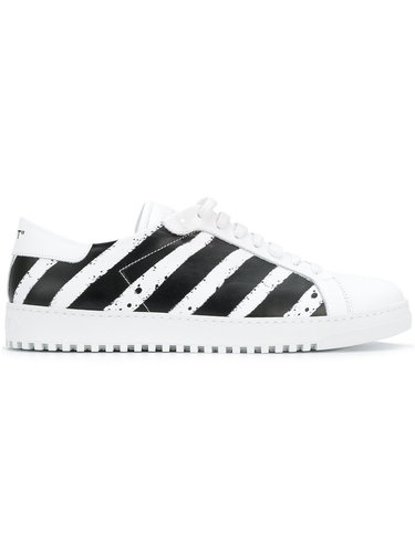 кроссовки в полоску Off-White