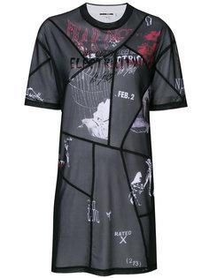 платье лоскутного кроя McQ Alexander McQueen