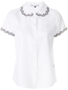 embroidered scallop trim shirt Jupe By Jackie
