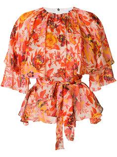 блузка с цветочным принтом MSGM