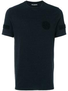 футболка с геометрическими вставками Neil Barrett