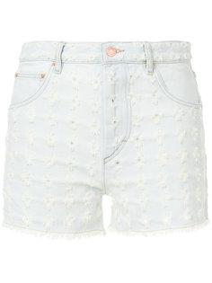 джинсовые шорты с цветочной вышивкой Isabel Marant Étoile