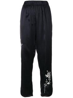 брюки свободного кроя с цветочной вышивкой Forte Forte