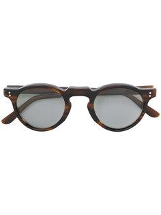 round tinted sunglasses Lesca