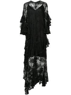 полупрозрачное платье с отделкой  Ellery