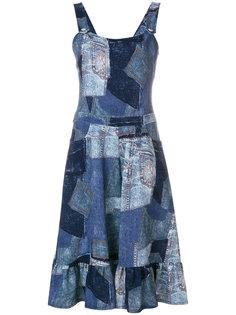 платье с эффектом тромплей Moschino