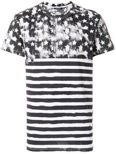 футболка с принтом звезд и полос Balmain