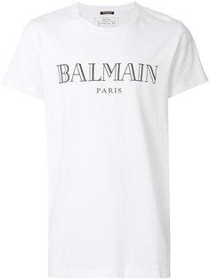 футболка с принтом-логотипом Balmain