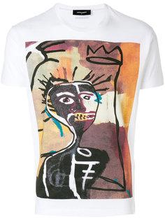 футболка с абстрактным принтом  Dsquared2