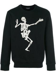 толстовка с вышитым скелетом Alexander McQueen