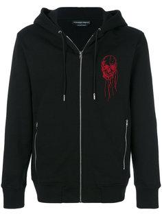 skull embroidered hoodie Alexander McQueen