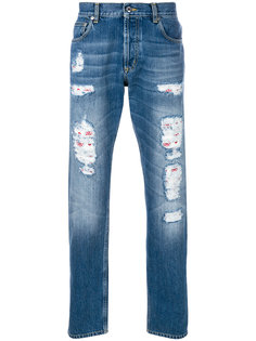 distressed straight-leg jeans Alexander McQueen