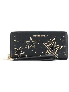 кошелек с круговой застежкой-молнией Starry  Michael Michael Kors